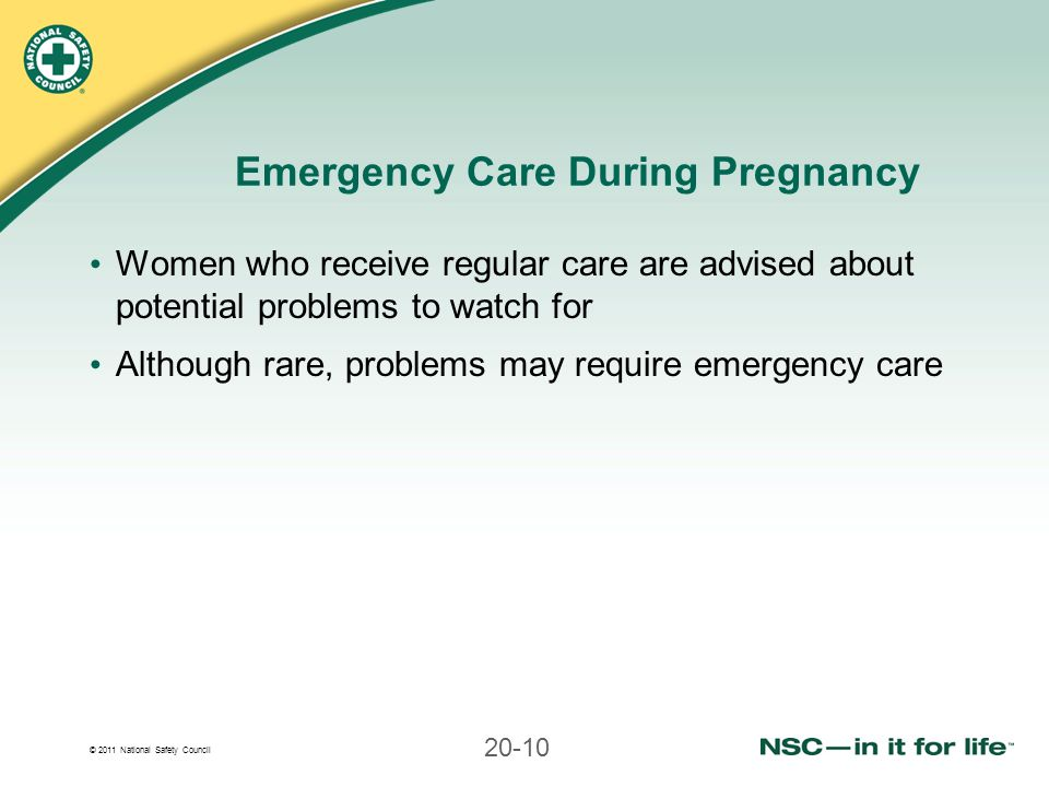 Emergency Care During Pregnancy