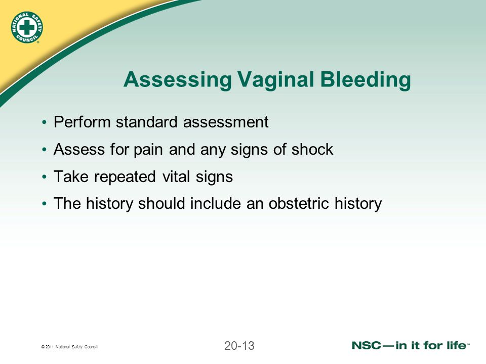 Assessing Vaginal Bleeding