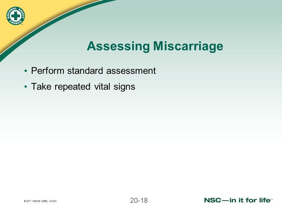 Assessing Miscarriage