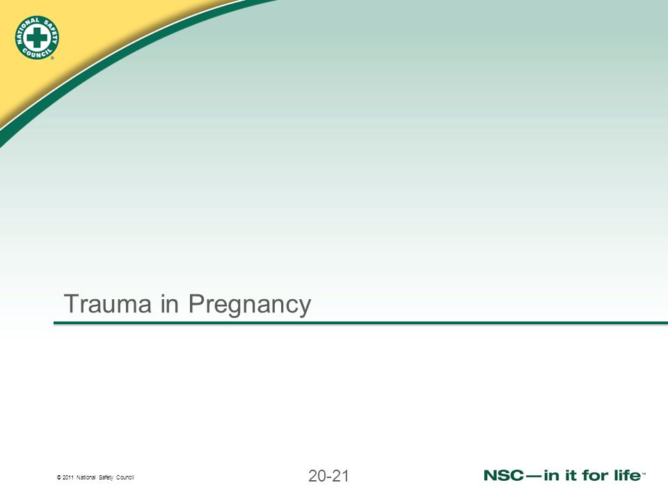 Trauma in Pregnancy