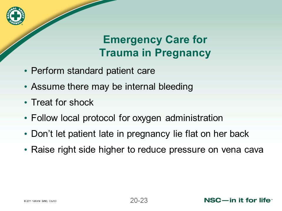 Emergency Care for Trauma in Pregnancy