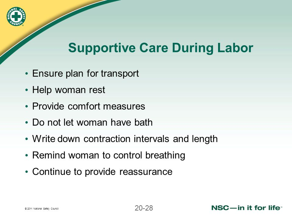 Supportive Care During Labor