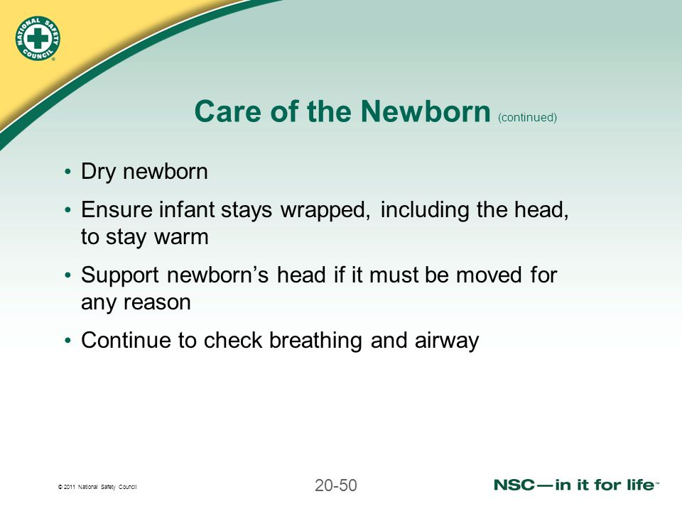 Care of the Newborn (continued)