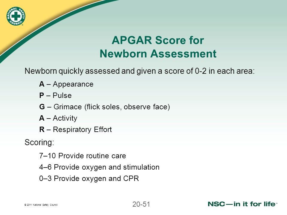 APGAR Score for Newborn Assessment