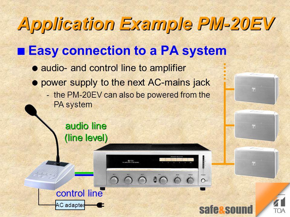 Application Example PM-20EV