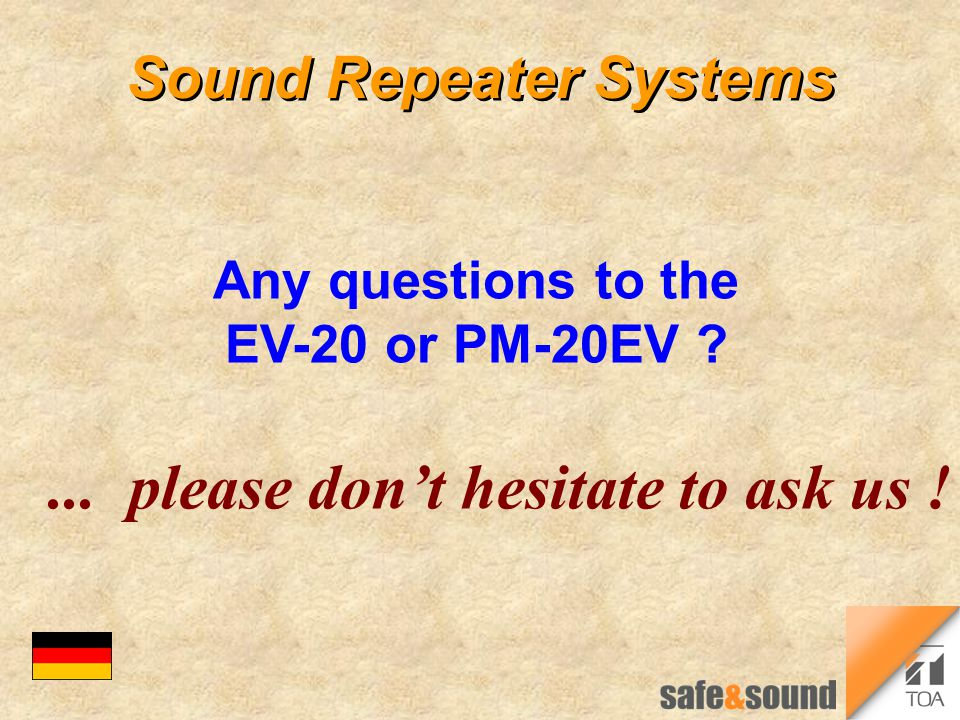 Sound Repeater Systems