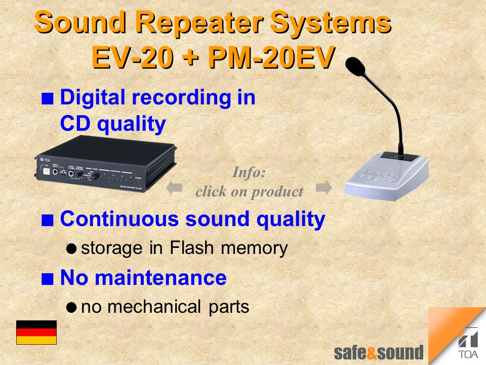 Sound Repeater Systems EV-20 + PM-20EV