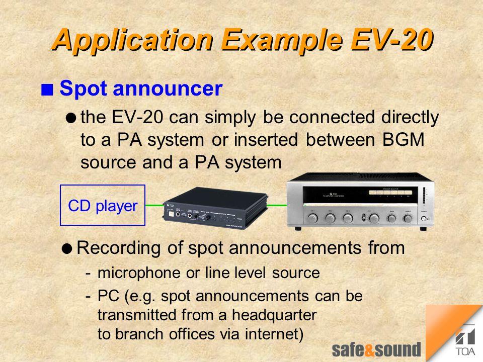 Application Example EV-20