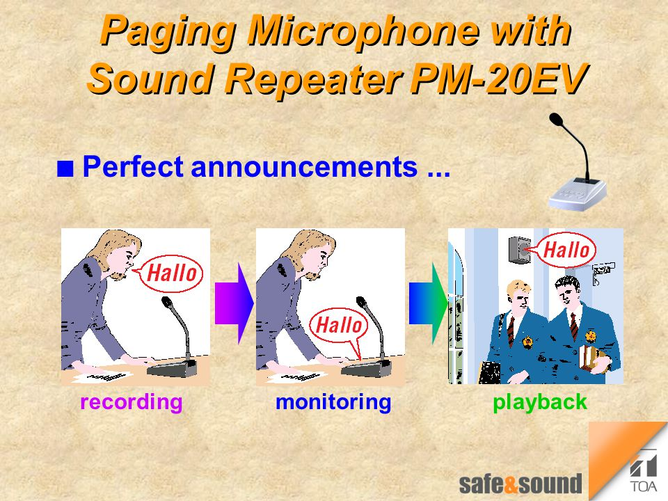 Paging Microphone with Sound Repeater PM-20EV