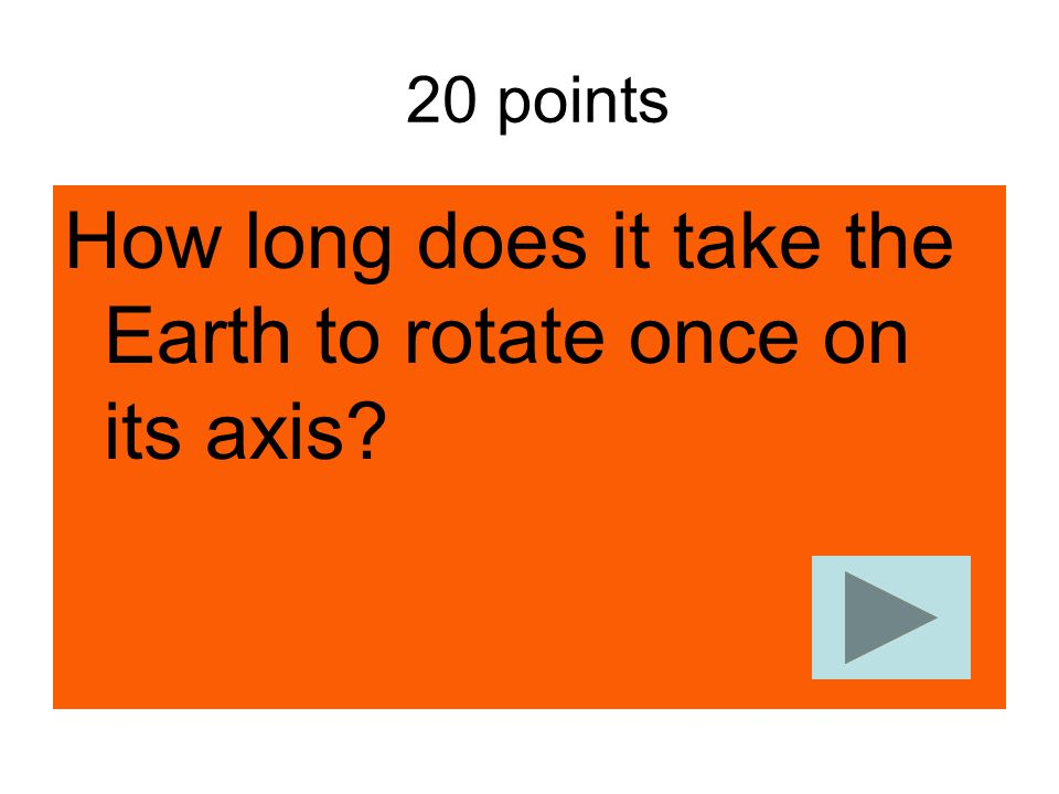 How long does it take the Earth to rotate once on its axis