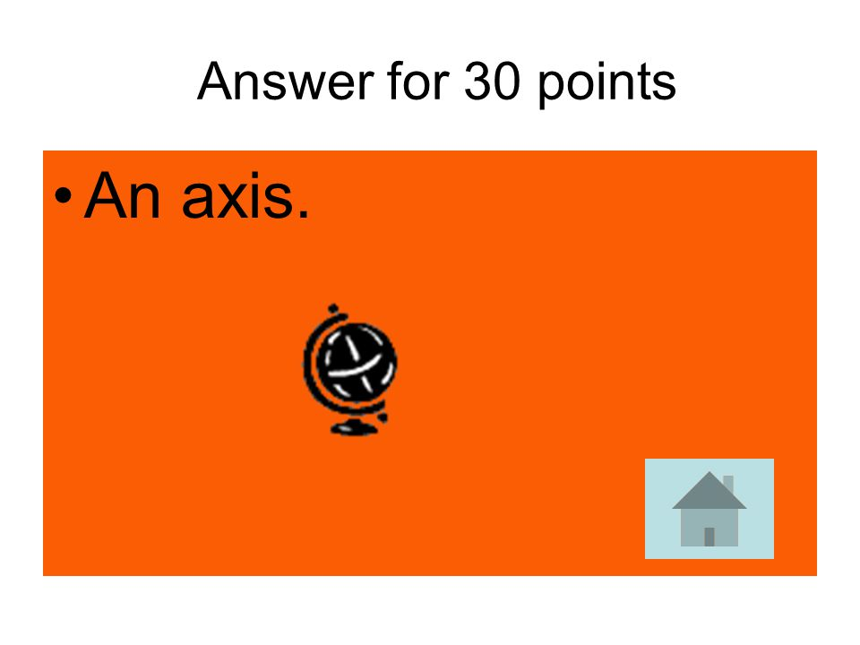 Answer for 30 points An axis.