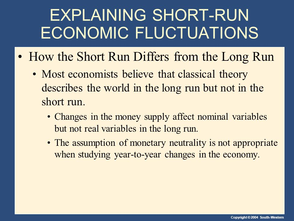 EXPLAINING SHORT-RUN ECONOMIC FLUCTUATIONS
