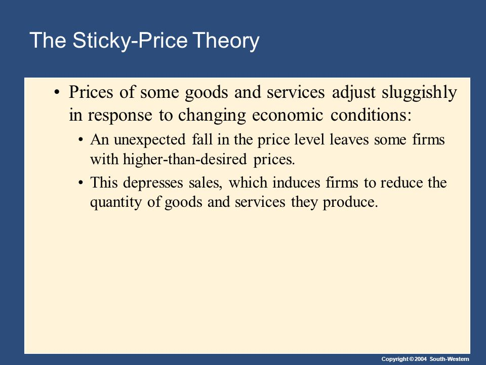 The Sticky-Price Theory