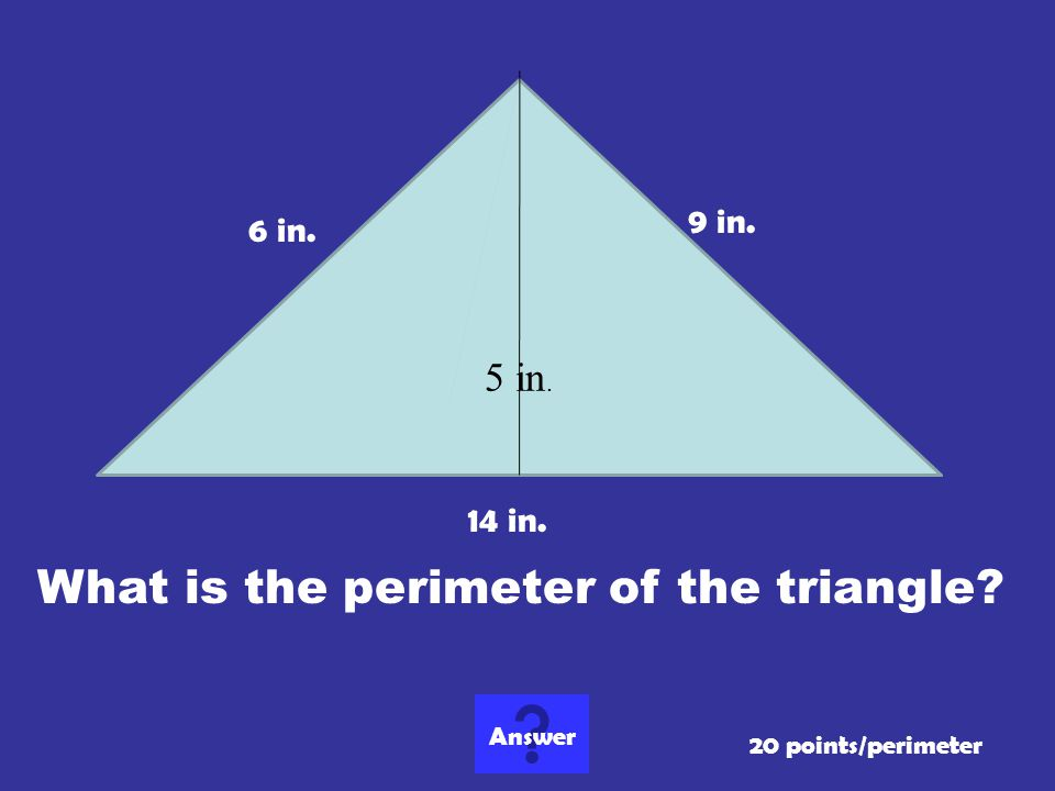 What is the perimeter of the triangle