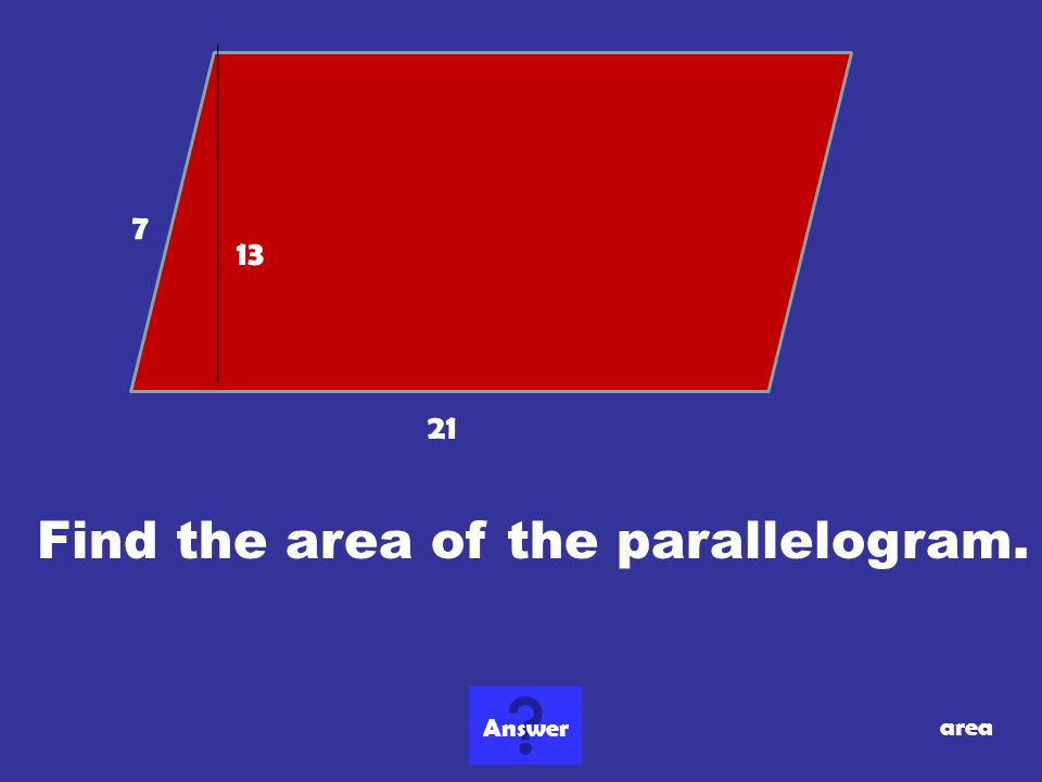 Find the area of the parallelogram.