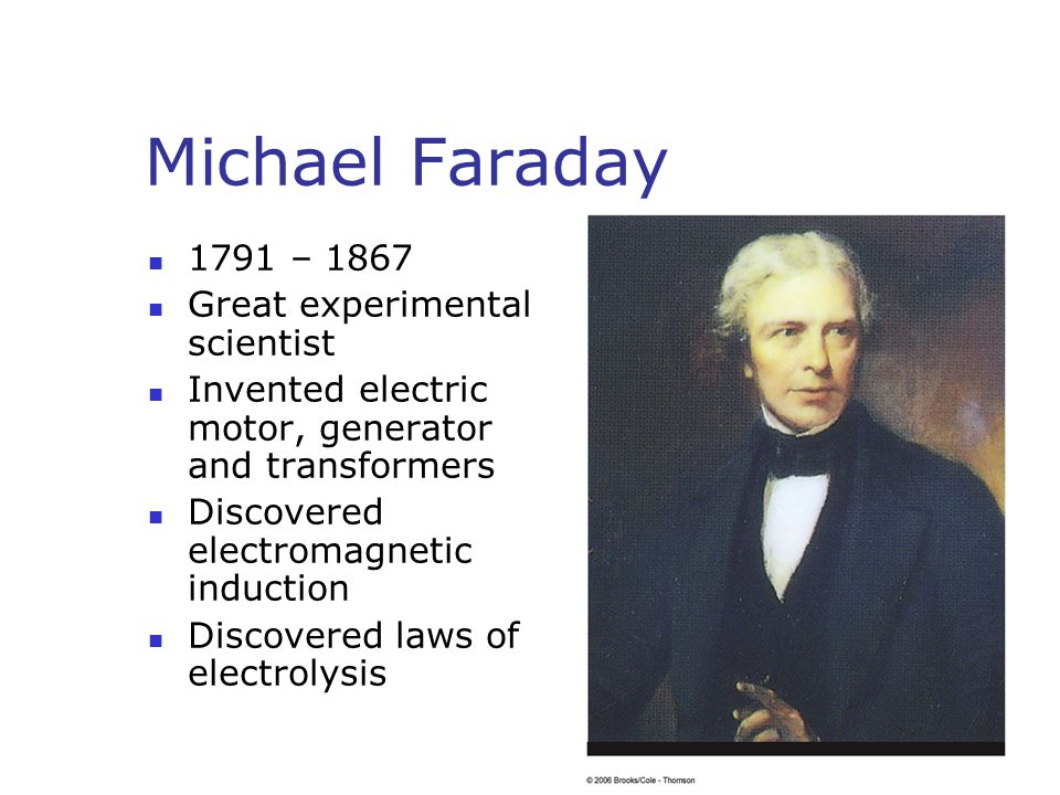 Chapter 20 induced voltages and inductance ppt video for Michael faraday electric motor