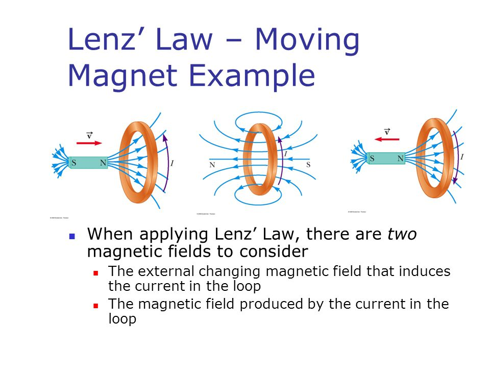 lenz s law Lenz's law states that, if an induced current flows, its direction is always such that it will oppose the change which produced it lenz's law is in accordance with the law of conservation.
