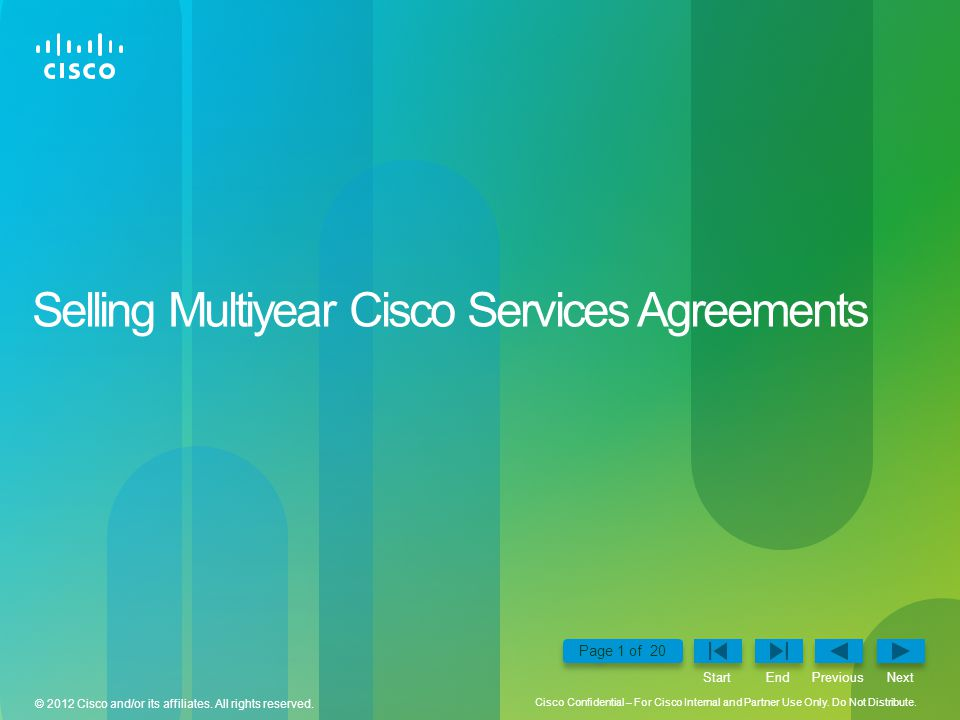 Selling Multiyear Cisco Services Agreements