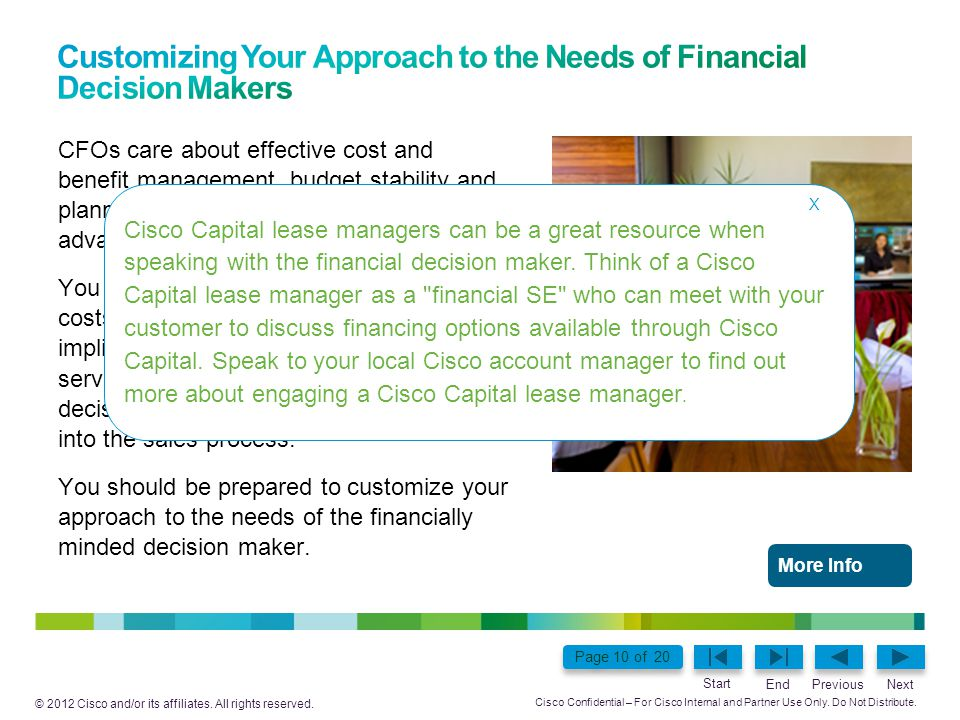 Customizing Your Approach to the Needs of Financial Decision Makers