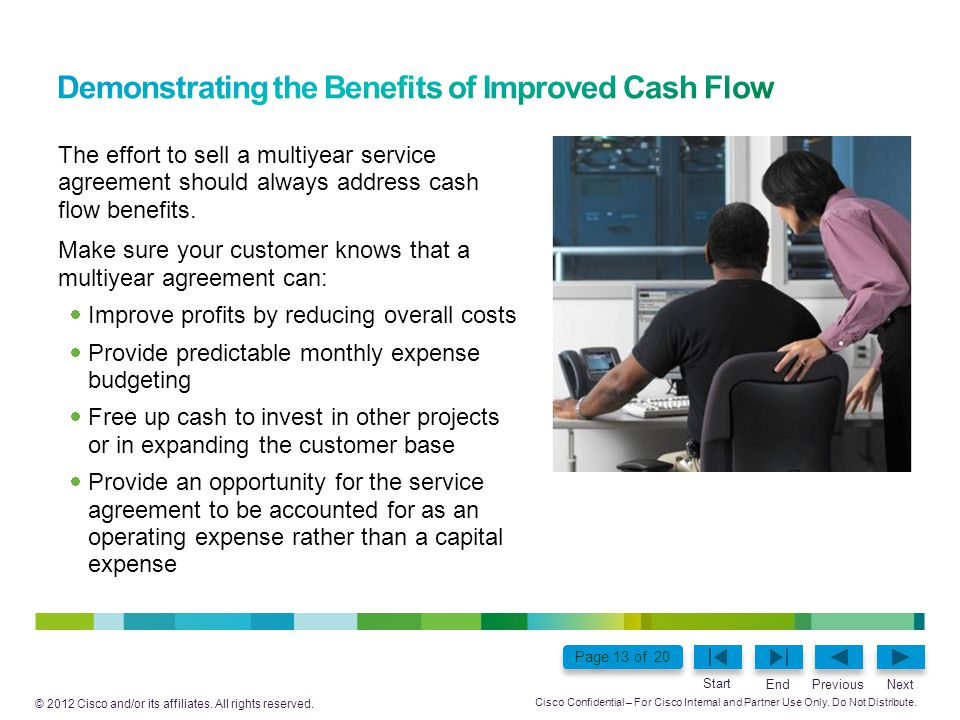Demonstrating the Benefits of Improved Cash Flow