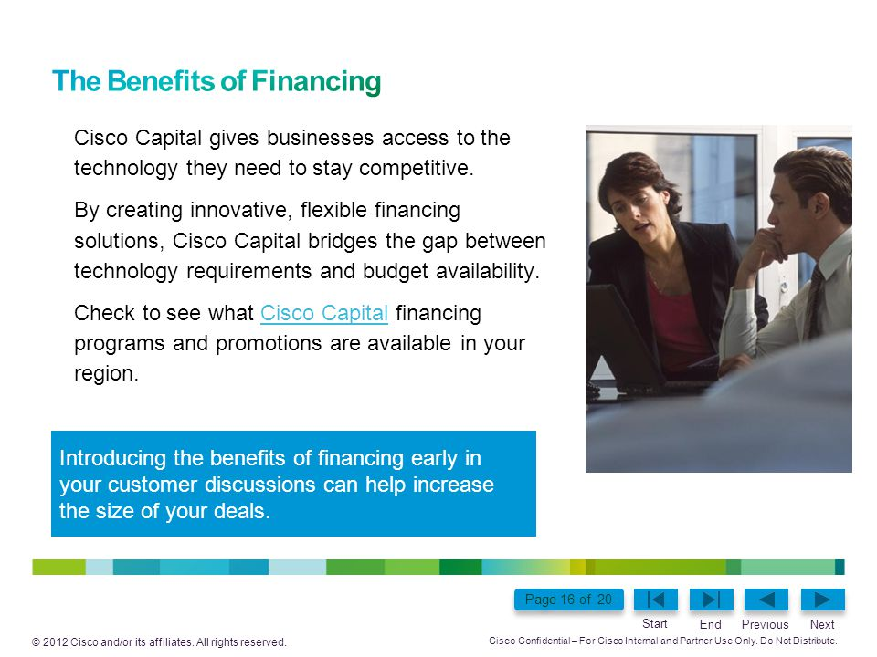 The Benefits of Financing