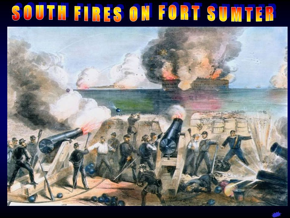 SOUTH FIRES ON FORT SUMTER