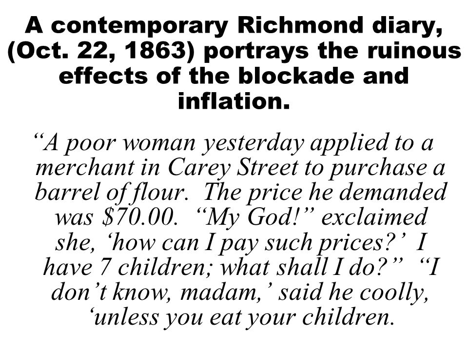 A contemporary Richmond diary, (Oct