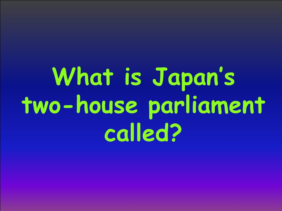 What is Japan's two-house parliament called