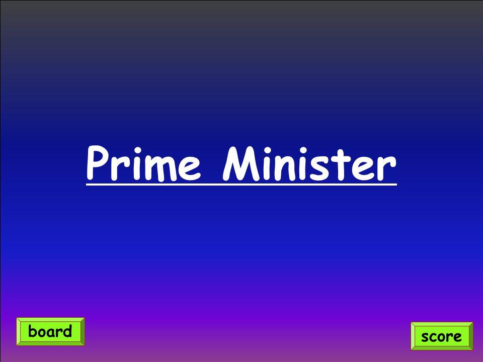 Prime Minister board score