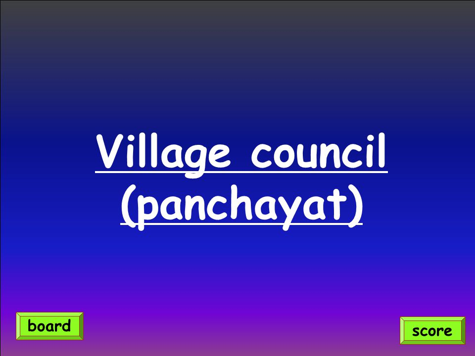 Village council (panchayat)