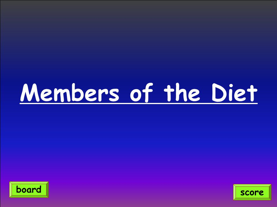 Members of the Diet board score