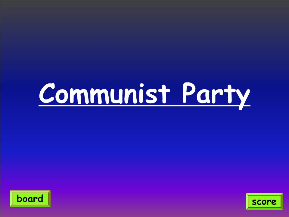 Communist Party board score