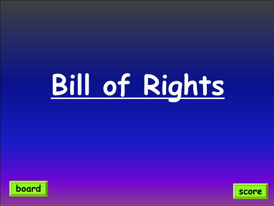 Bill of Rights board score
