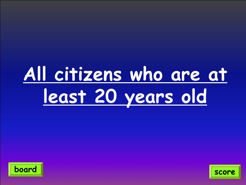 All citizens who are at least 20 years old
