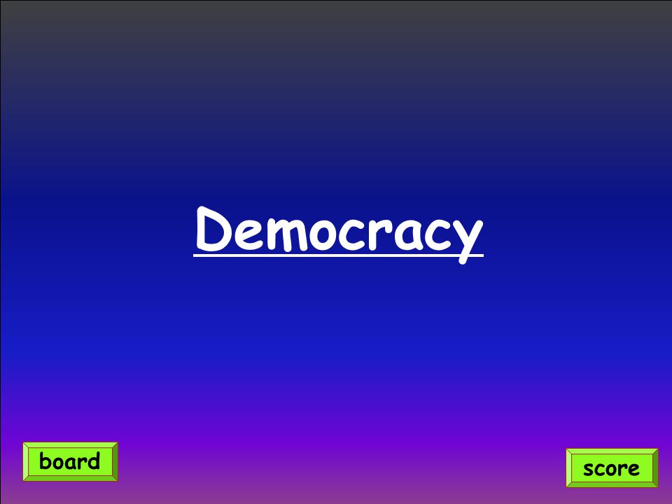 Democracy board score
