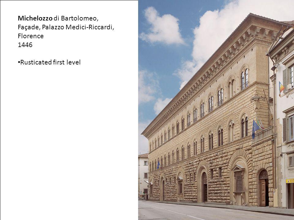 Michelozzo di Bartolomeo, Façade, Palazzo Medici-Riccardi, Florence