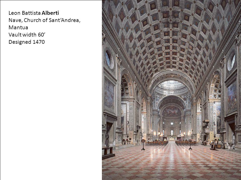 Nave, Church of Sant'Andrea, Mantua Vault width 60' Designed 1470