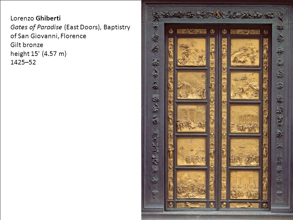 Gates of Paradise (East Doors), Baptistry of San Giovanni, Florence
