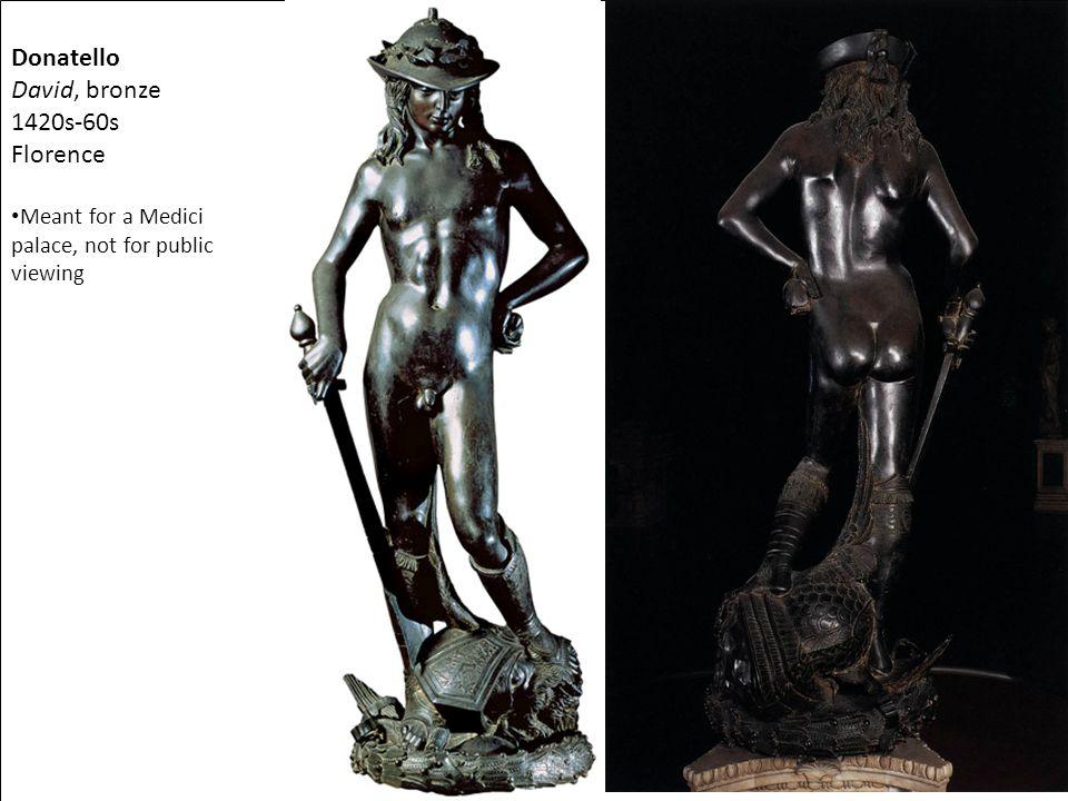 Donatello David, bronze 1420s-60s Florence