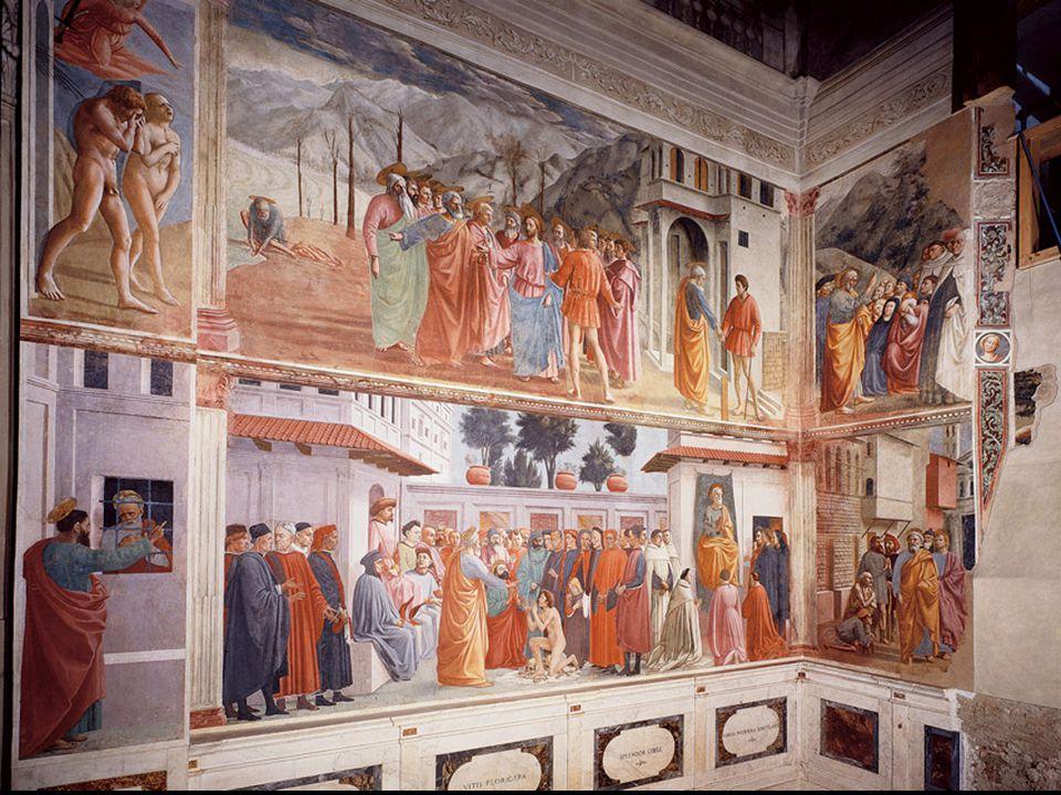 Artist: Frescoes by Masaccio and Masolino (1426–27) and Filippino Lippi (lower register) (c. 1482–84)