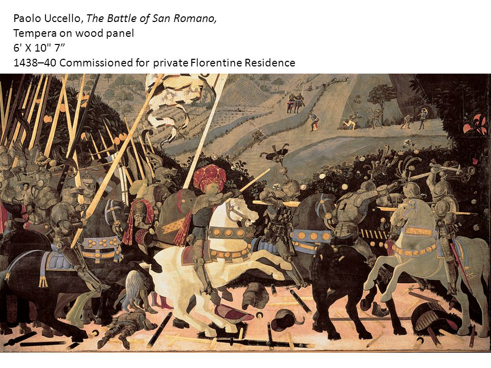 Paolo Uccello, The Battle of San Romano, Tempera on wood panel