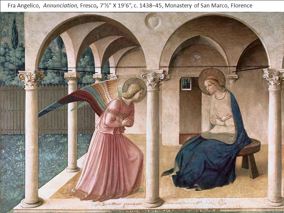 Fra Angelico, Annunciation, Fresco, 7'½ X 19 6 , c