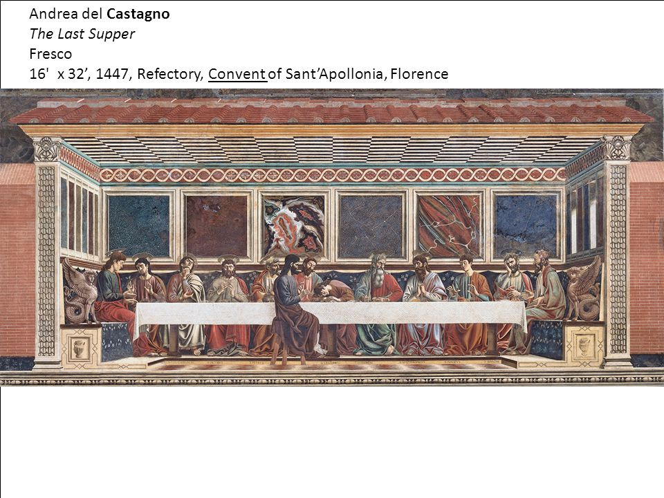 16 x 32', 1447, Refectory, Convent of Sant'Apollonia, Florence