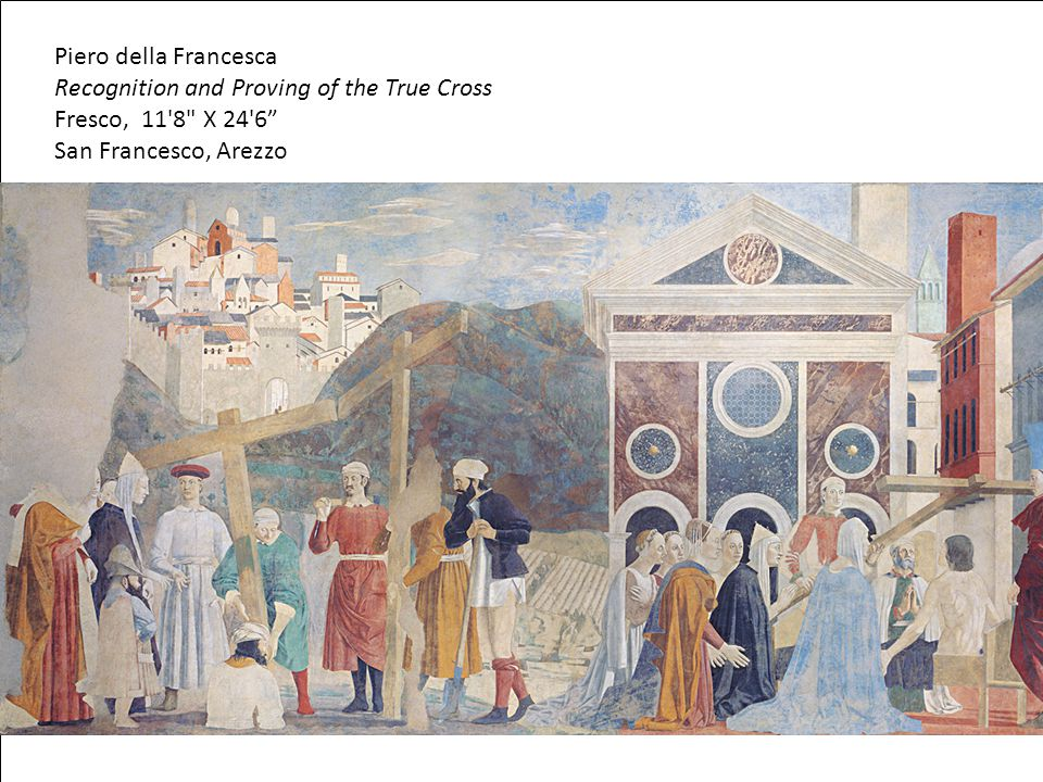 Recognition and Proving of the True Cross Fresco, 11 8 X 24 6