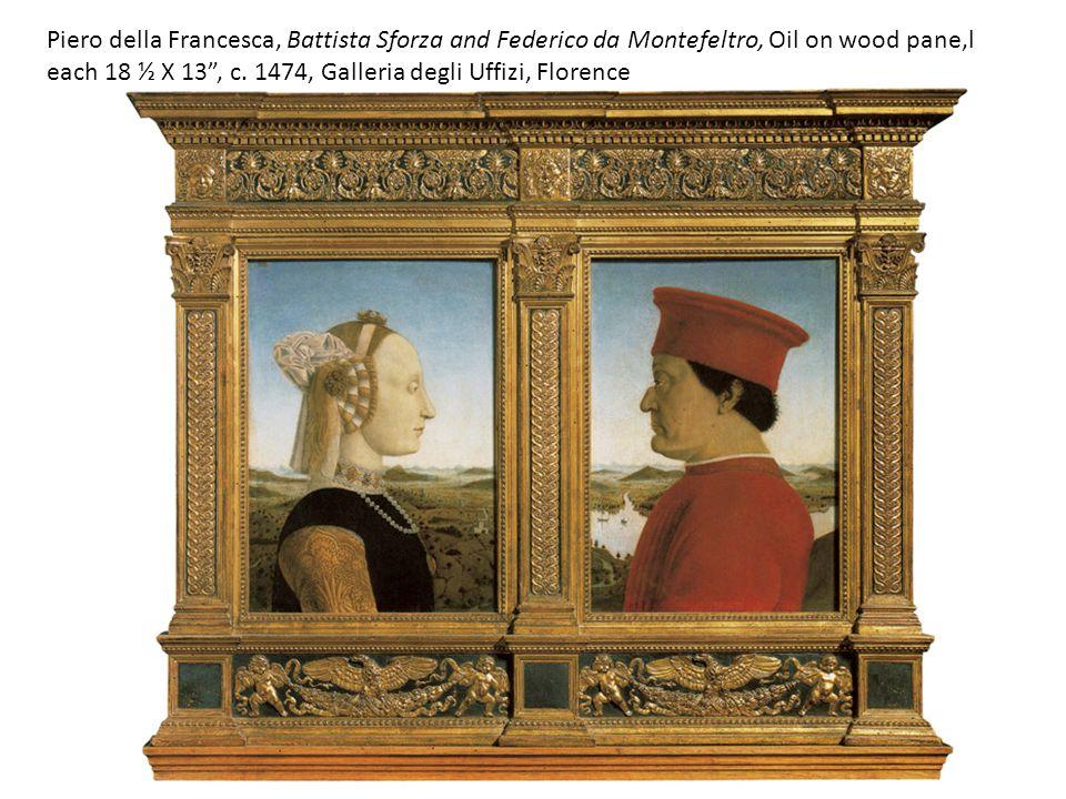 each 18 ½ X 13 , c. 1474, Galleria degli Uffizi, Florence