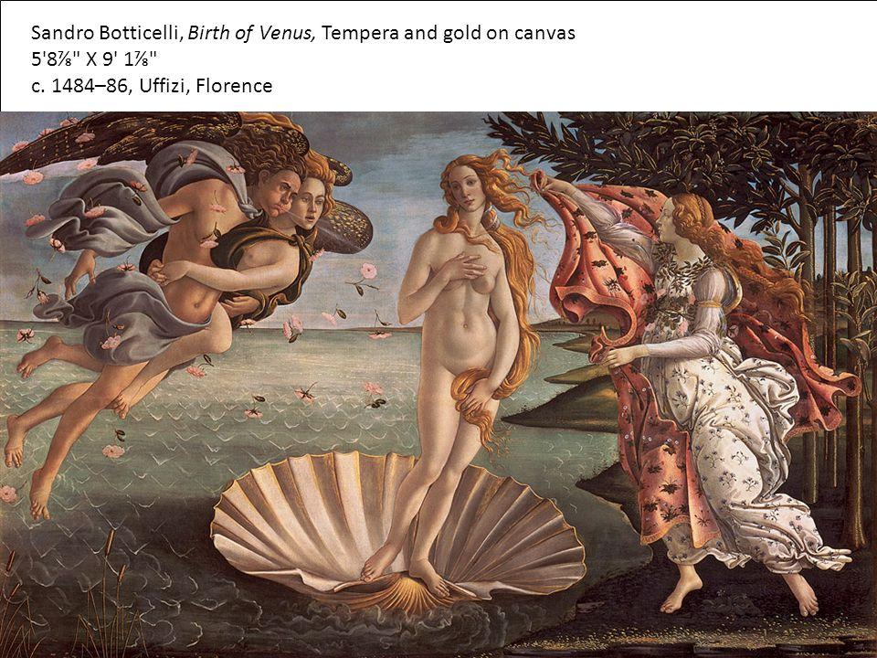 Sandro Botticelli, Birth of Venus, Tempera and gold on canvas