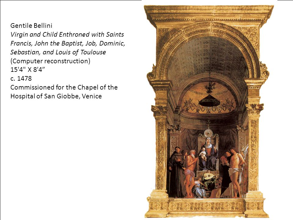 Commissioned for the Chapel of the Hospital of San Giobbe, Venice