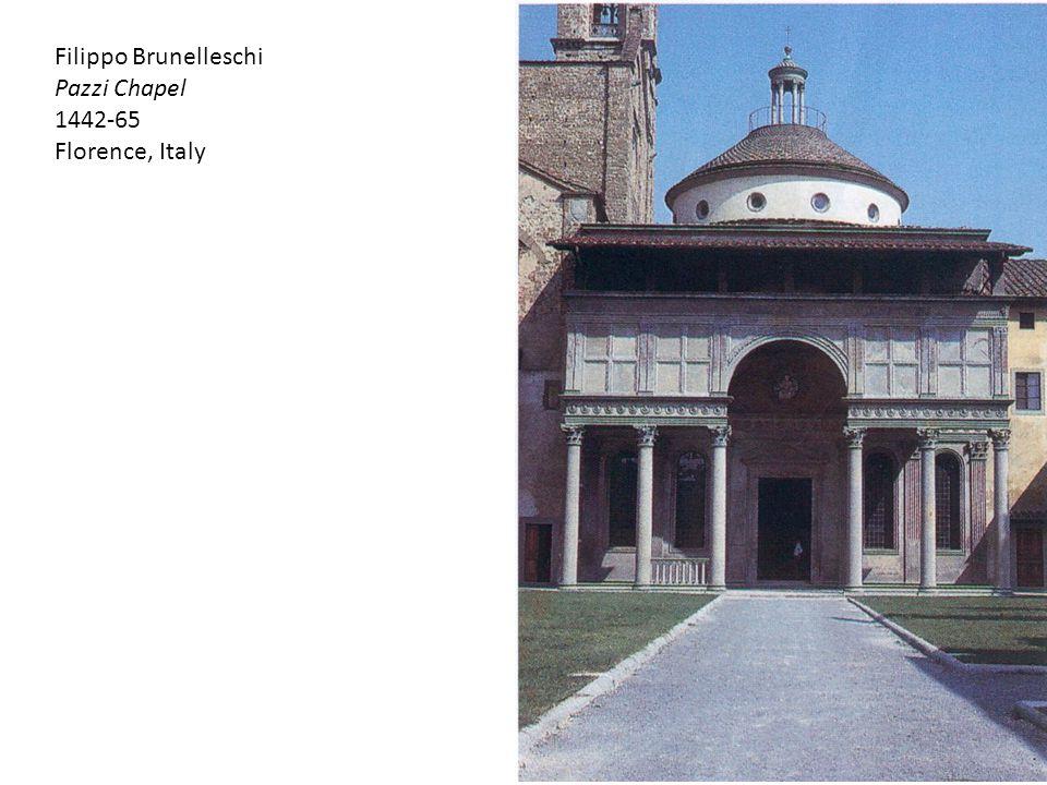 Filippo Brunelleschi Pazzi Chapel 1442-65 Florence, Italy