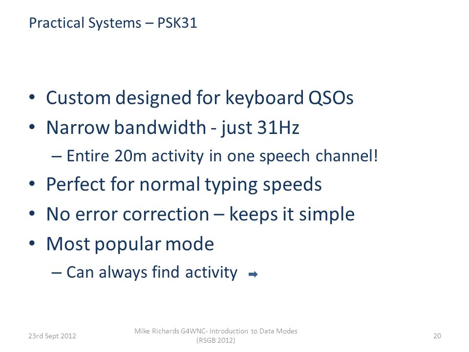 Practical Systems – PSK31