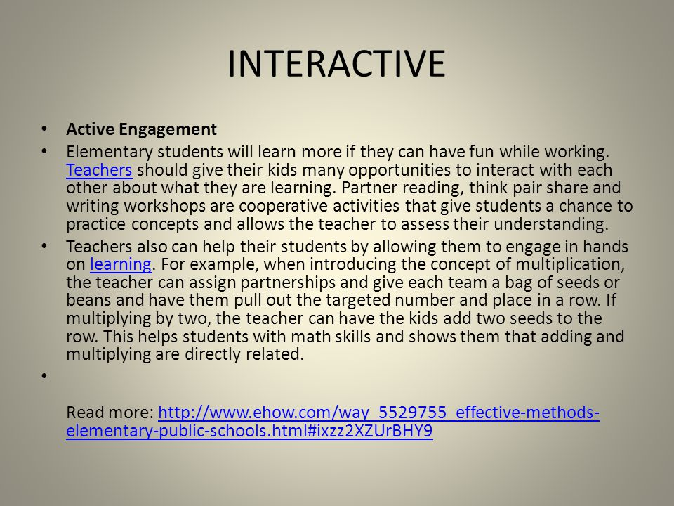 INTERACTIVE Active Engagement
